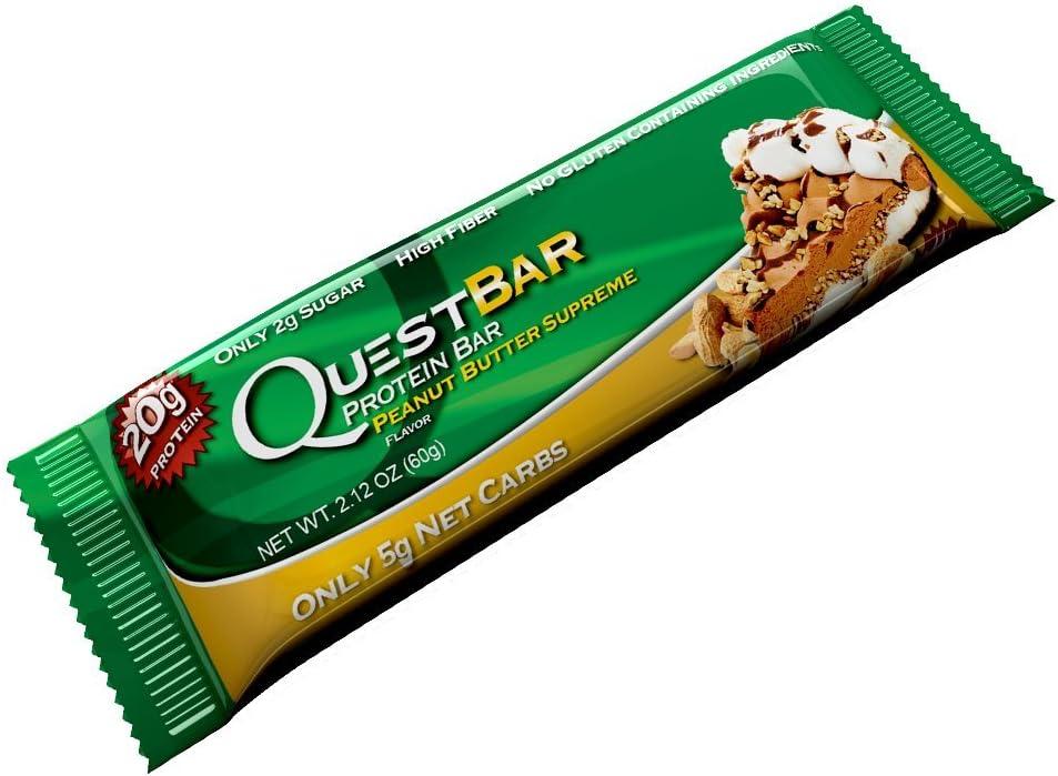 Quest bar, 12 x 60gr barritas de proteina bajos en carbohidratos
