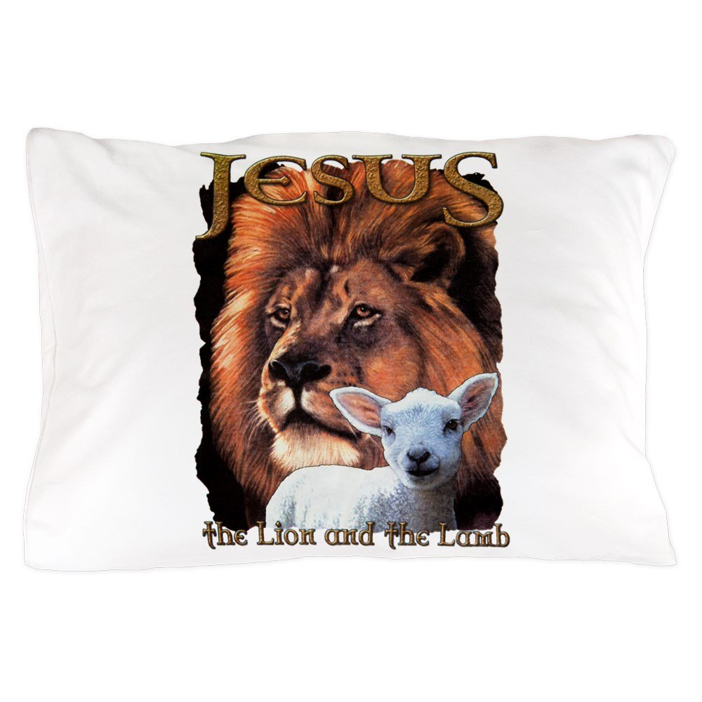 Pillow Case Jesus The Lion And The Lamb