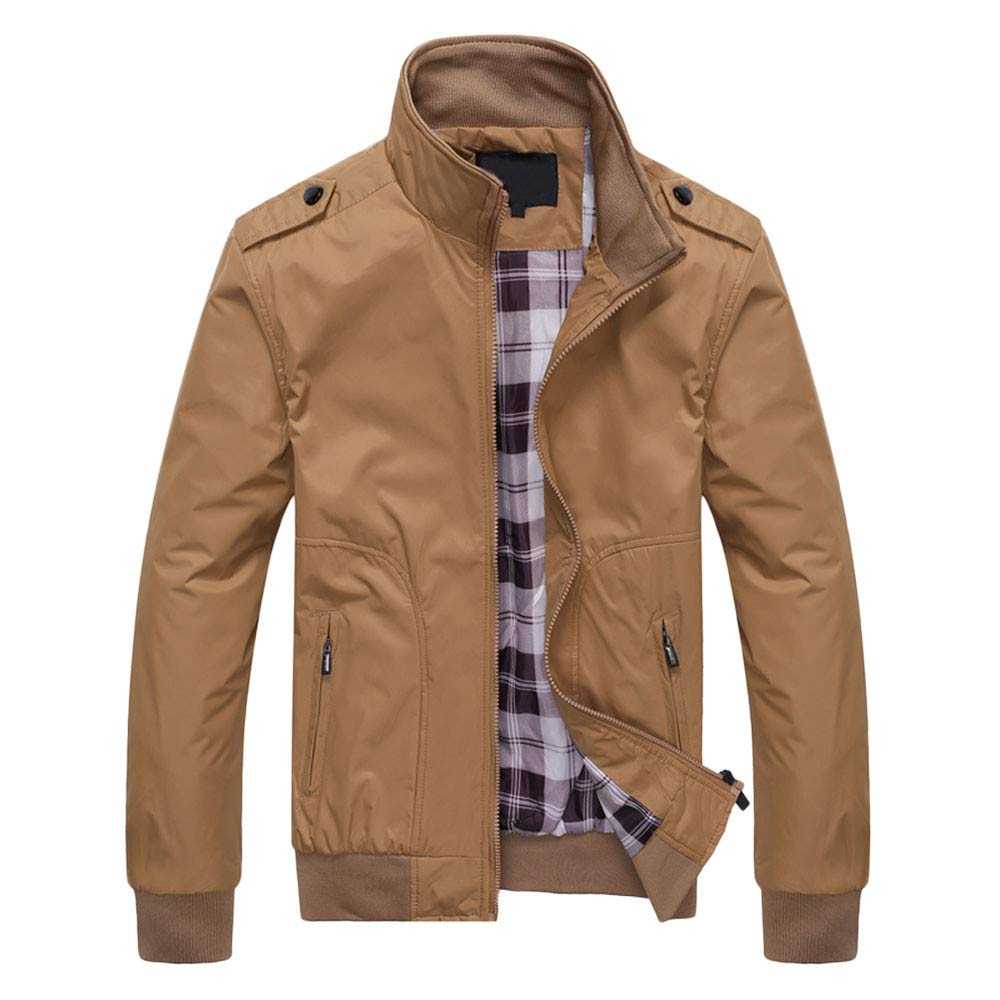 Amazon.com: Clearance Sale for Men Coat.AIMTOPPY Mens Casual Pure Color Long Sleeve Zip Jacket Windbreaker Jacket: Computers & Accessories