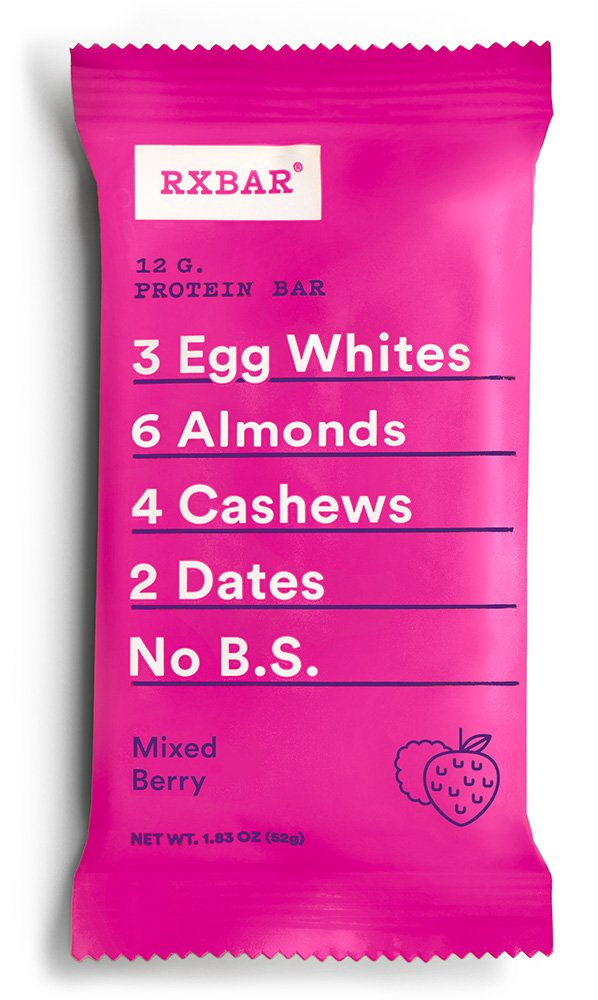RXBAR Whole Food Protein Bar, Mixed Berry, 1.83oz