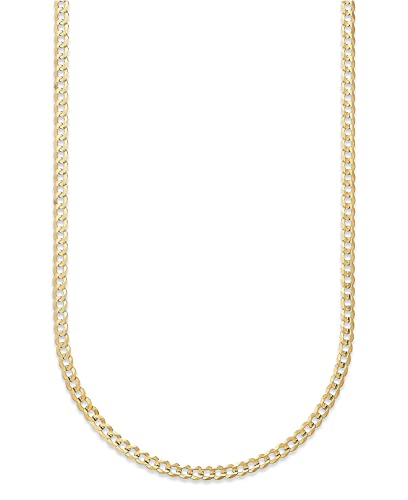 f25a405f0b178 18K Solid Yellow Gold 1.8mm Cuban Link Curb Chain Necklace- 18K Solid Gold-  Made in Italy- Available in 16