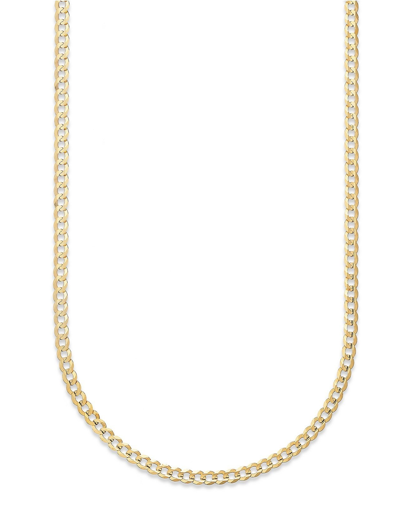 18 Karat Solid Yellow Gold 2mm Cuban Link Curb Chain Necklace- 18K Solid Gold- Made in Italy- 30''