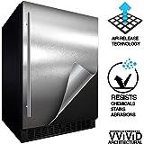 "VViViD Architectural Adhesive Metallic Satin Finish Vinyl 24"" x 60"" Roll (Satin Chrome Stainless Steel)"