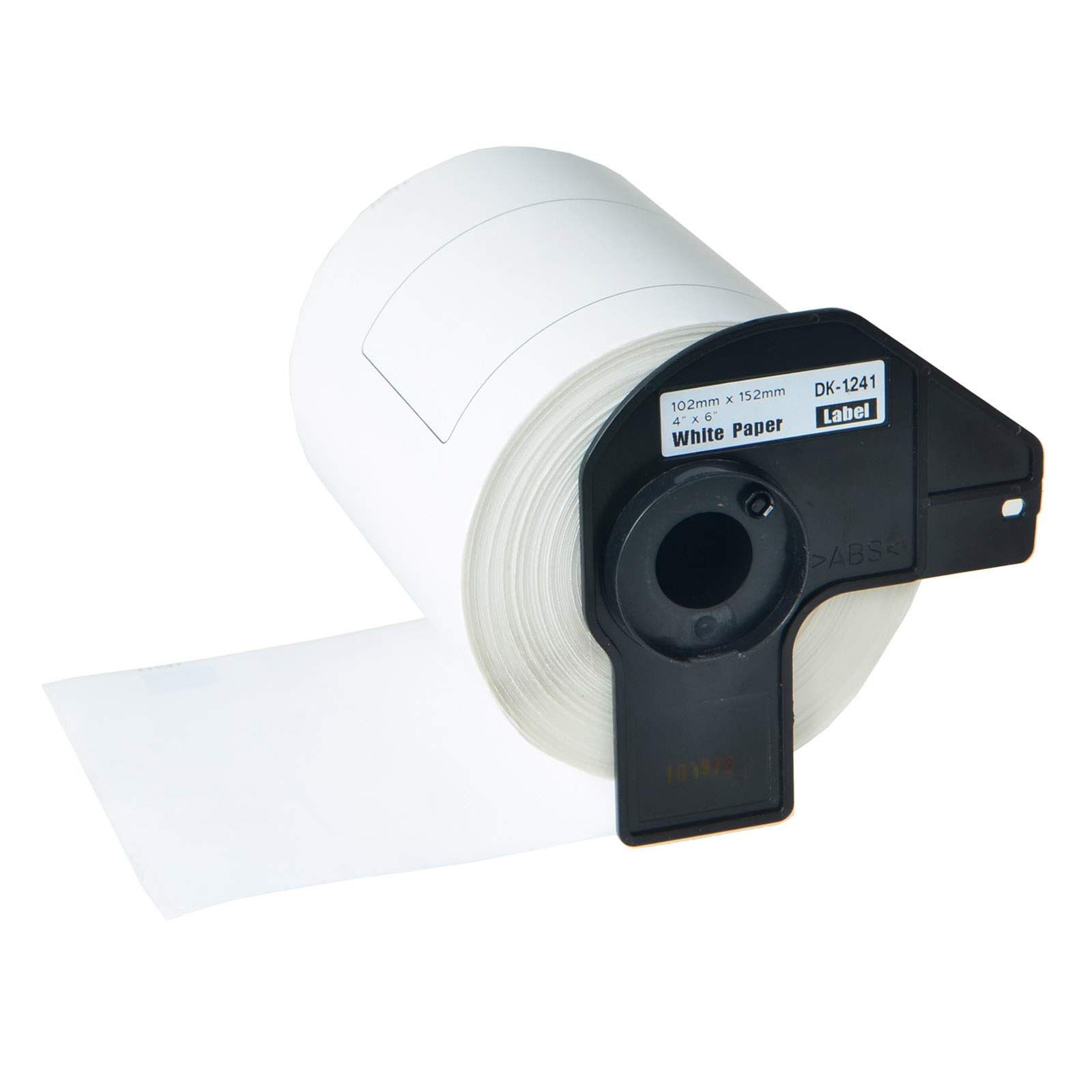 KCYMTONER 1 Roll of Compatible Brother DK-1241 101mm x 152mm(4'' x 6'') Continuous Length Paper Tape Labels with Refillable Cartridge, Use for Brother QL-1050 QL-1050N QL-1060N QL Printer