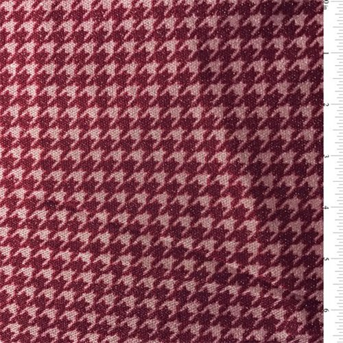 Ruby/Pink Houndstooth Nylon Knit, Fabric by The Yard (Fabric Houndstooth Upholstery)