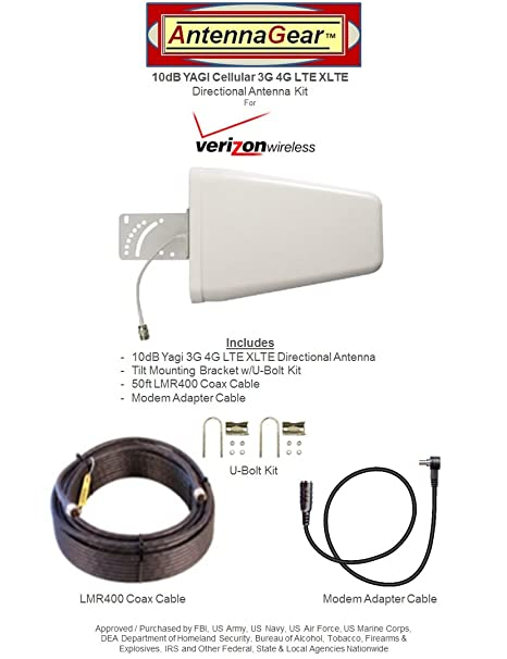 Kit de Antena Yagi 3G 4G LTE de 10 dB para Verizon Pantech ...