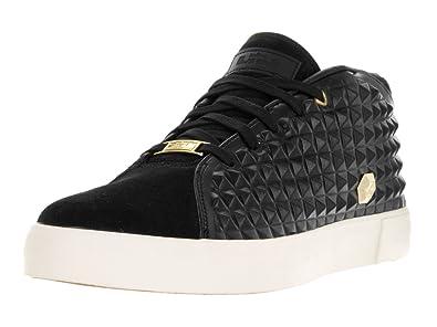 Nike Men\u0027s Lebron XIII Lifestyle Black/Metallic Gold Sail Casual Shoe 9.5