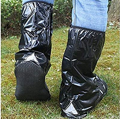 NeDonald Waterproof Shoe Covers Rain Boots with Ropes for Motorcycle/Bicycle/Riding