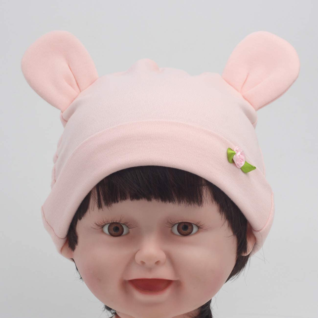 Nihao Baby Girl Beanie Hats Knotted Caps Newborn Hats 3Pcs//Set
