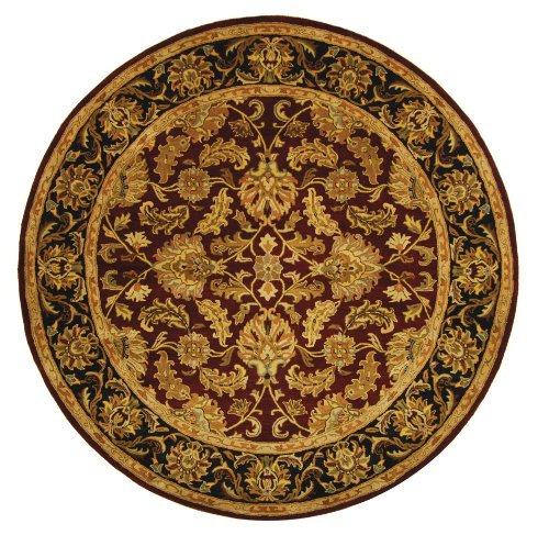 Cheap Safavieh Heritage Collection HG628C Handcrafted Traditional Oriental Red and Black Wool Round Area Rug (8′ Diameter)
