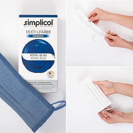 Simplicol Kit de Tinte Textile Dye Intensive Azul : Colorante para Teñir Ropa, Tejidos y Telas Lavadora, Contiene Fijador para Colorante Líquido, Anti ...
