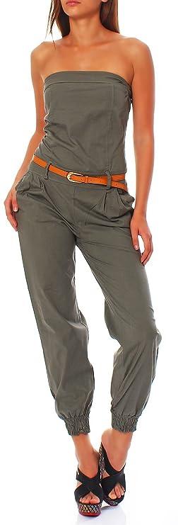 Combinaison pantalon femme chic sans Manches pas cher
