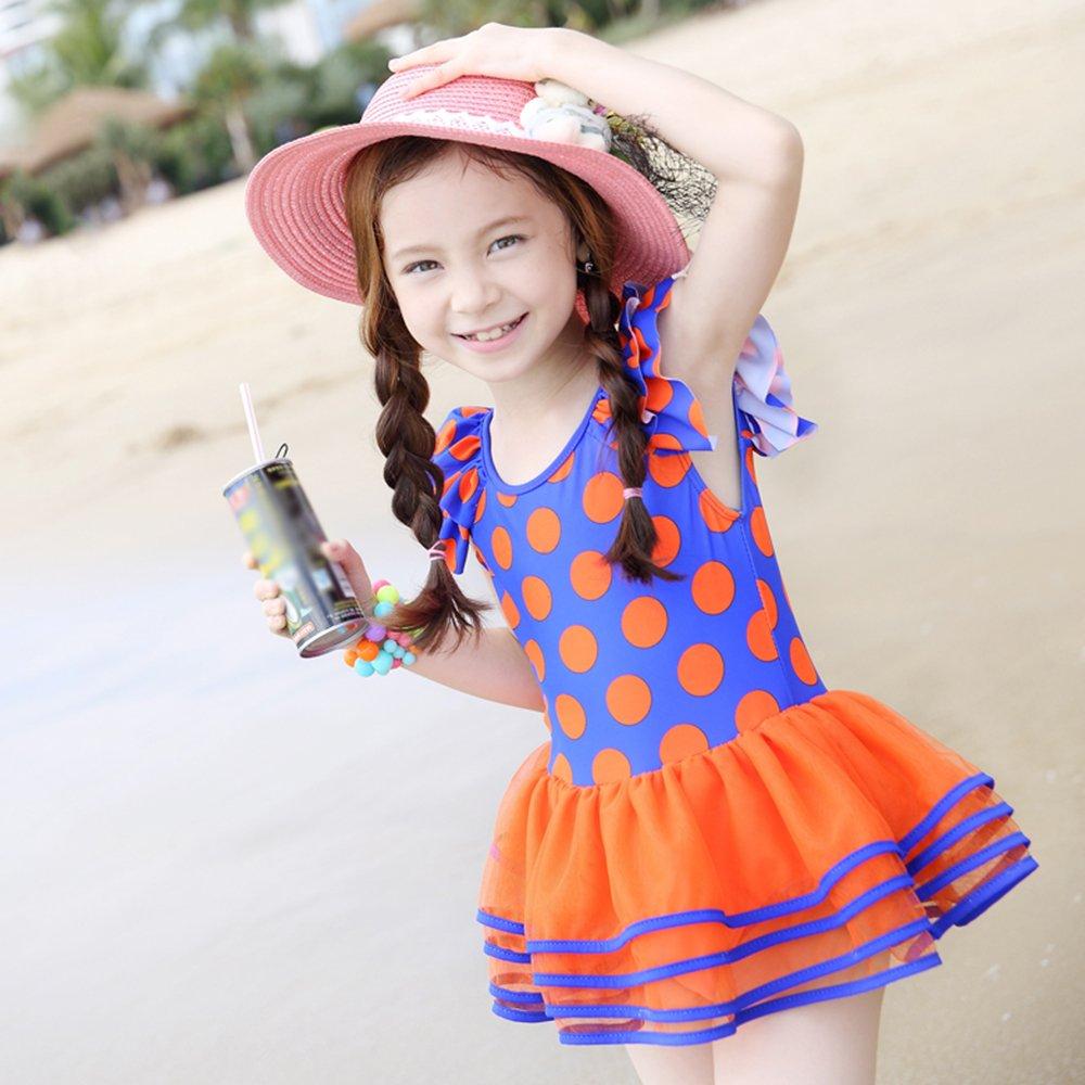 HYSENM Badeanzug Mädchen UV-Schutz Weich Badekleid Einteiler für Kinder Bademode Schwimmanzug 1 Piece