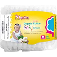 Organic Baby Cotton Swabs Maxim Hygiene Products 50 Pack