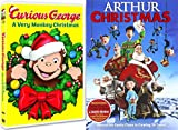 Curious George DVD & Arthur Christmas Operation Santa Clause Holiday Movie Set