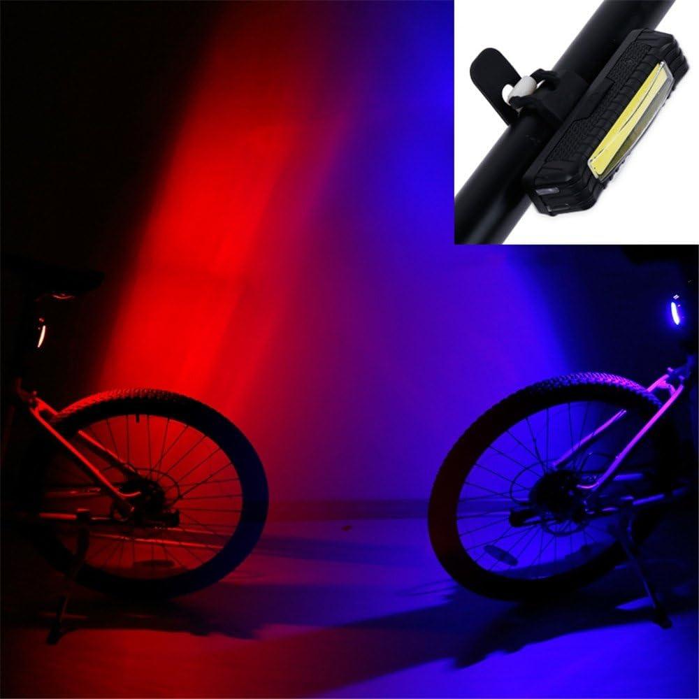 LLTS Dos color rojo Blu-ray luz trasera de bicicleta luz de ...