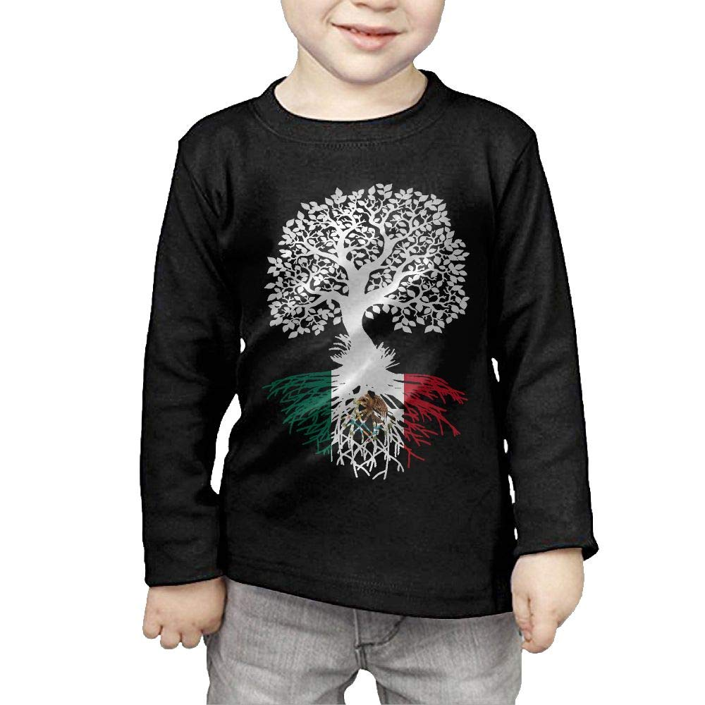 Fryhyu8 Baby Boys Childrens Mexico Roots Printed Long Sleeve 100/% Cotton Infants Tee Shirt