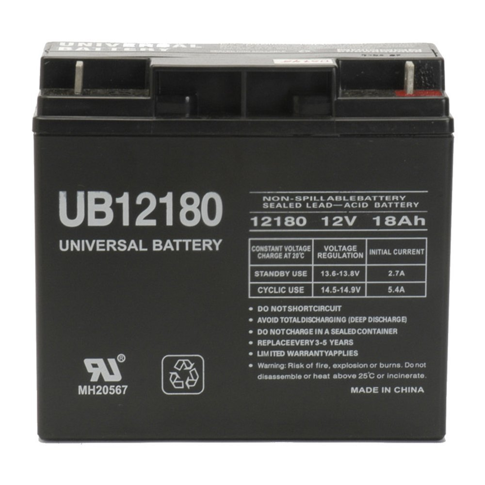 Universal Power Group 12V 18AH SLA Battery for Generac 7500 EXL Portable Generator