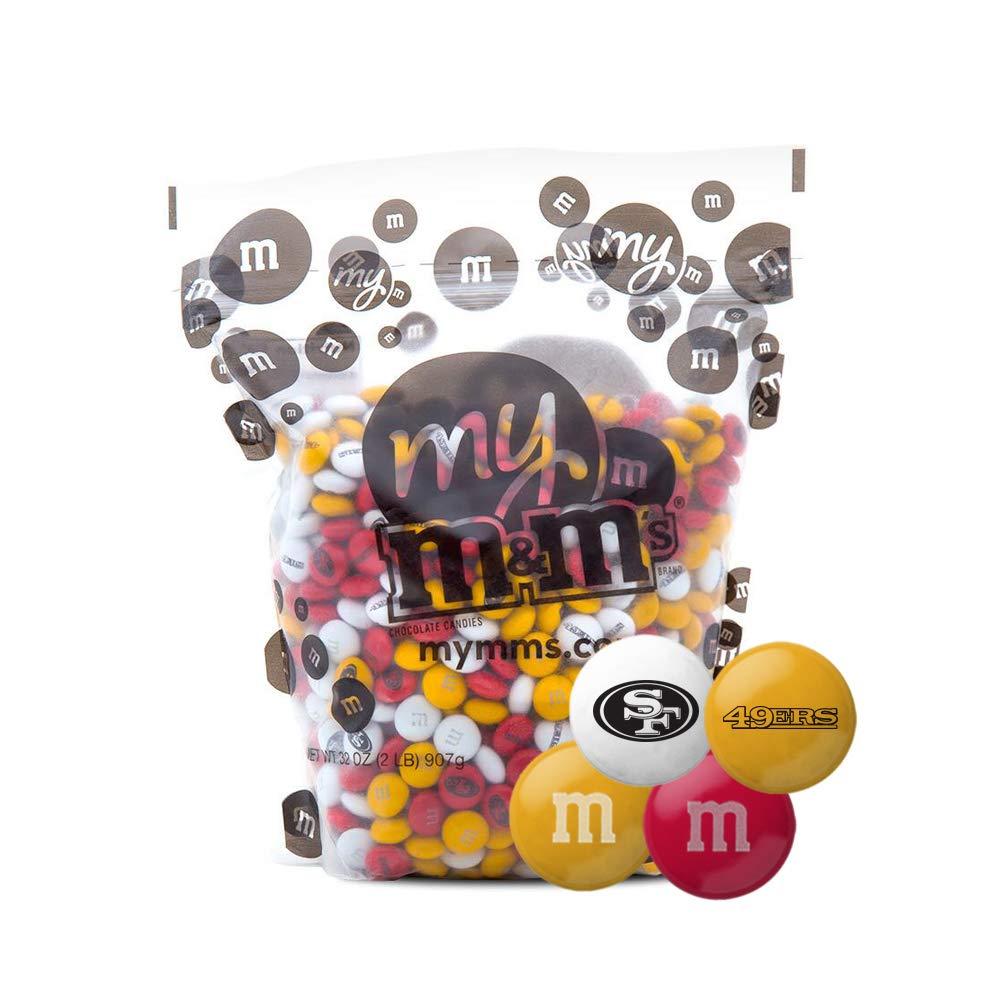 CDM product M&M's San Francisco 49ers 2 Lb Bulk Candy big image