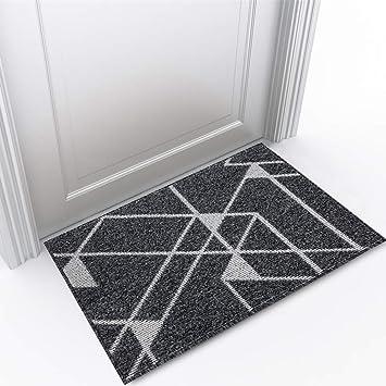HiiARug Indoor Doormat 24x 36 Front Back Door Mat Non Slip Rubber Backing Outdoor Doormats Mud Dirt Trapper Mats for Entrance Way Front Door Machine Washable Inside Floor Mats