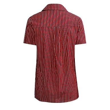 Camiseta para Mujer, Mujer Blusas Casual Sólido Gasa Camisa Manga ...