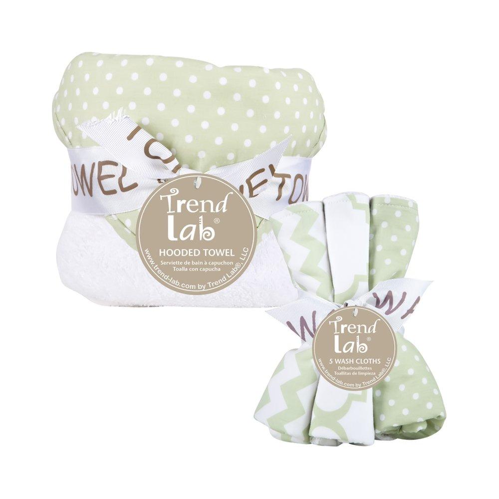 Amazon.com : Trend Lab 6 Piece Dot Hooded Towel and Wash Cloth Set, Sea Foam : Baby