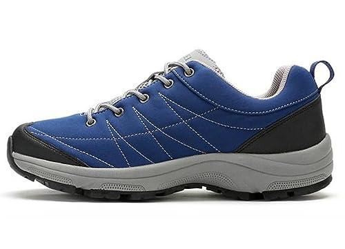 Camel - Zapatillas para Correr en montaña de Piel para Hombre, Color Azul, Talla