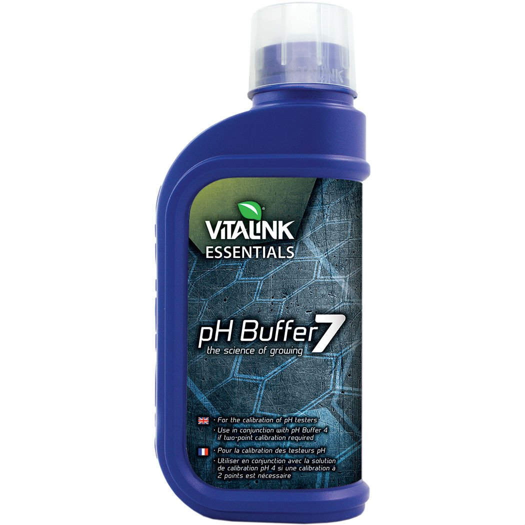 Solution d'é talonnage/de calibration Hydrogarden pH Buffer 7 (1L) Vitalink