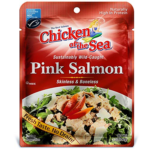 Chicken of the Sea Pink Salmon Skinless & Boneless Pouch, 5 Ounce Pouch (Pack of 12) (5 Ounce Salmon)