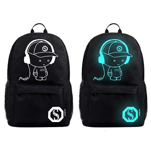QUICKLYLY Mochilas Escolares Juveniles Backpack Mochila Cargador USB Portátil Adolescente Escolar Luminoso Antirrobo escolar para niños: Amazon.es: Zapatos ...