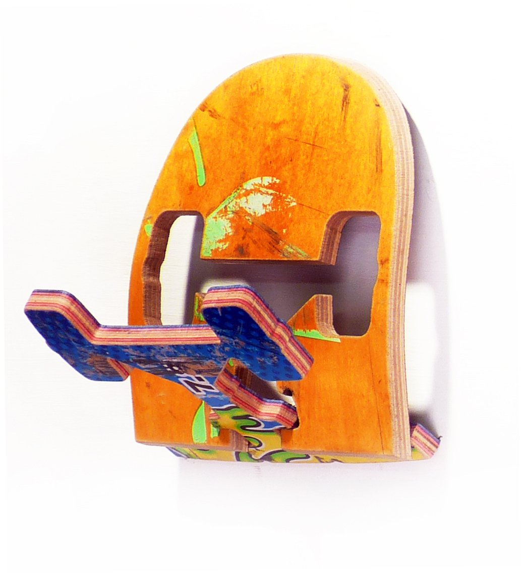 Amazon.com: Reciclado – Perchero de monopatín (1) Single ...