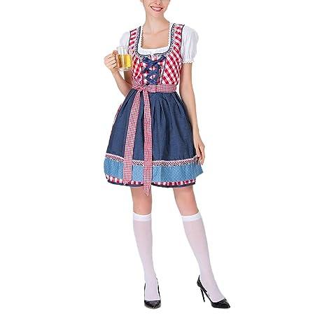 Neborn Vestido Dirndl Oktoberfest alemán Traje de Puta de Cerveza ...