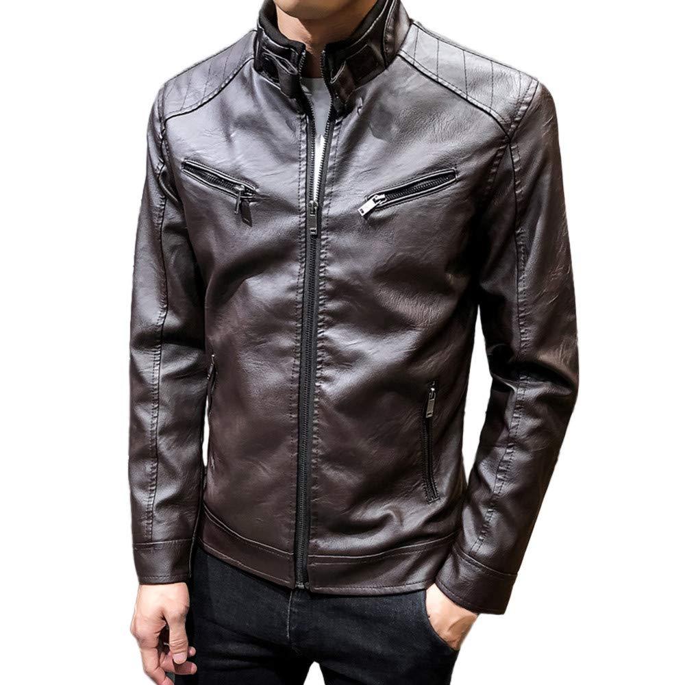 Ennglun Mens jacket Windbreaker Coats For Men SWEATER メンズ XXX-Large コーヒー B07JDLR1XV