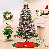"IBEET Santa Christmas Tree Skirt,35"" Mat Decoration Holiday Ornament"