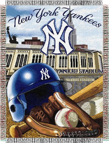 New York Yankees Tapestry Throw - Northwest New York Yankees MLB Woven Tapestry Throw (Home Field Advantage) (48x60) Nor2NYY-051HFA by Northwest
