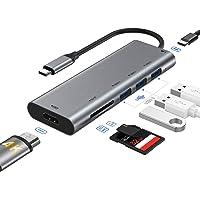 RAYROW Hub USB C, 7 En 1 USB C Hub a HDMI 4K, USB C Power Delivery, 3 Puertos USB 3.0, SD/Micro SD Lector Tarjeta, Hub…