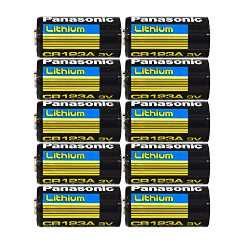 Panasonic CR123A Lithium 3V Photo Lithium Batteries , 0.67