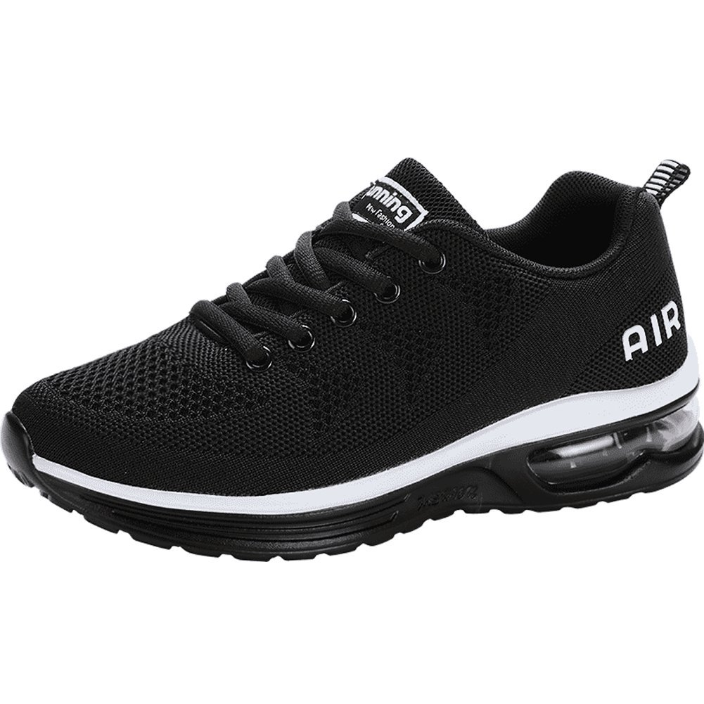 JARLIF Women's Lightweight Athletic Running Shoes Breathable Sport Air Fitness Gym Jogging Sneakers US5.5-10 B074YG368Q 7 M US|Black