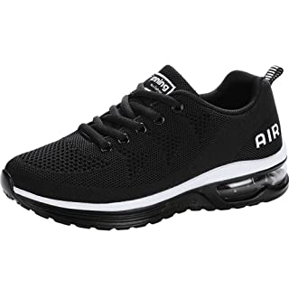 JARLIF Women's Lightweight Athletic Running Shoes Breathable Sport Air Fitness Gym Jogging Sneakers (6 B(M) US, Black)