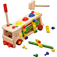 Wooden Building Blocks Kids Premium Wood Toy Assemble Learning Educational Toys Set Toddler Learning Play set for Girls…
