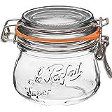Le Parfait *罐 - 宽口法国玻璃保存罐,圆形锅身,玻璃盖和天然橡胶密封 - 食品储存罐 透明 250ml - 8oz - SS