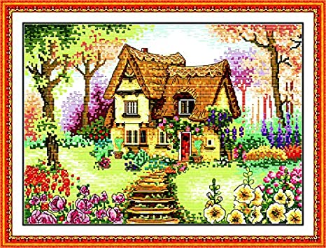 A Christmas Celebration 26/×20.1 Maydear Cross Stitch Kits Stamped Full Range of Embroidery Starter Kits for Beginners DIY 11CT 3 Strands inch