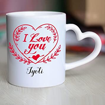 Buy Huppme I Love You Jyoti Heart Handle Mug Online At Low Prices In India