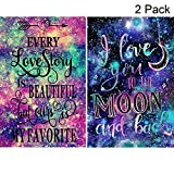 2 Pack 5D Full Drill Diamond Painting Kit, KISSBUTY DIY Diamond Rhinestone Painting Kits for Adults and Beginner Embroidery Arts Craft Home Decor, 15.8 X 11.8 Inch (Love Story Diamond Painting)