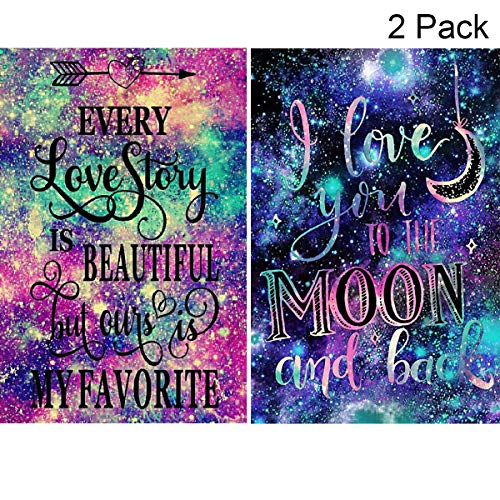 (2 Pack 5D Full Drill Diamond Painting Kit, KISSBUTY DIY Diamond Rhinestone Painting Kits for Adults and Beginner Embroidery Arts Craft Home Decor, 15.8 X 11.8 Inch (Love Story Diamond Painting))