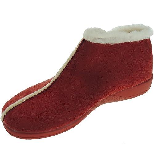 DeValverde 147 Zapatilla de Casa Abotinada para Mujer: Amazon.es: Zapatos y complementos