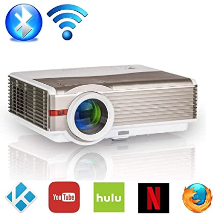 Amazon.com: HD Wireless Projector WiFi Bluetooth Android 6.0 ...