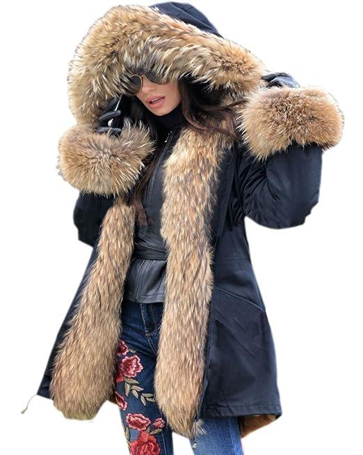 New Fashion Women Coat Faux Mink Fur Outerwear Winter Warm Jacket Elegant Parka