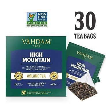 Himalayan Oolong Tea (30 Bolsitas de té) - 100% de té de desintoxicación natural, té de Oolong Hojas de té de pirámide de hojas sueltas, cerveza ...