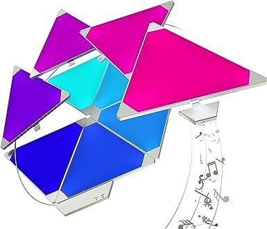 Nanoleaf Rhythm Larger Kit - 15 x Modular Inteligente LED & Módulo Integriert, 2 W, 16.7 Millionen Farben, 13.7 x 29.5 x 11.0 cm: Amazon.es: Iluminación